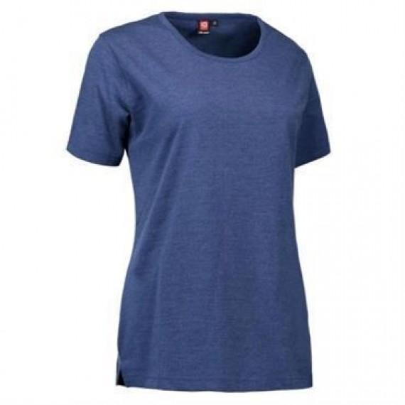 ID PRO wear t shirt dame 0312 blå melange