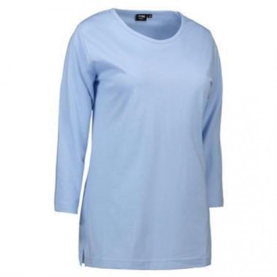 ID PRO wear dame t shirt med trekvart ærmer 0313 lys blå