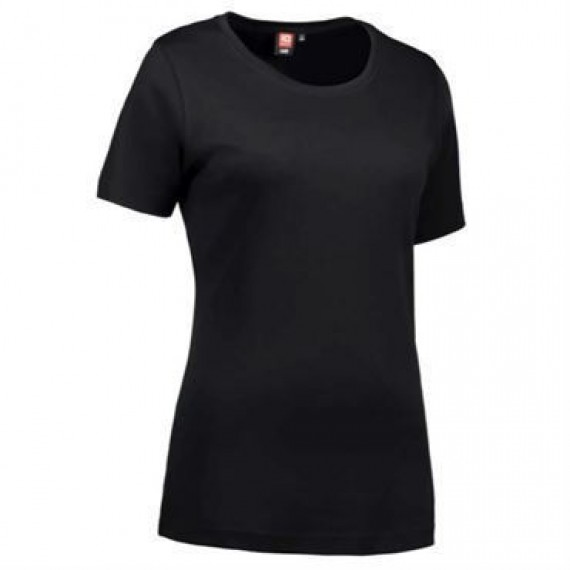 ID interlock t shirt dame 0508 sort