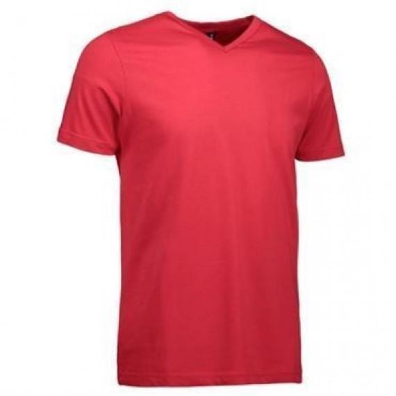 ID t time t shirt slim med V hals 0514 sort