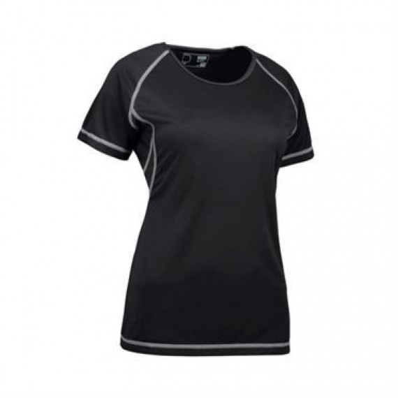 ID Game active t shirt flatlock dame 0581 sort