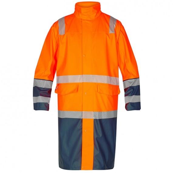 FE-Engel Safety Lang Regnjakke Orange/Marine-30