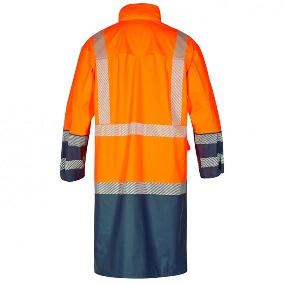 FE-Engel Safety Lang Regnjakke Orange/Marine-00