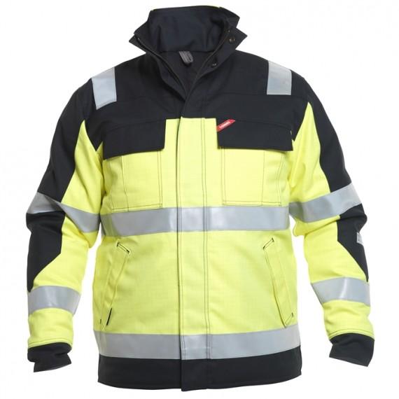 FE-Engel Safety+ Vinterjakke EN 20471 Gul/Sort-30
