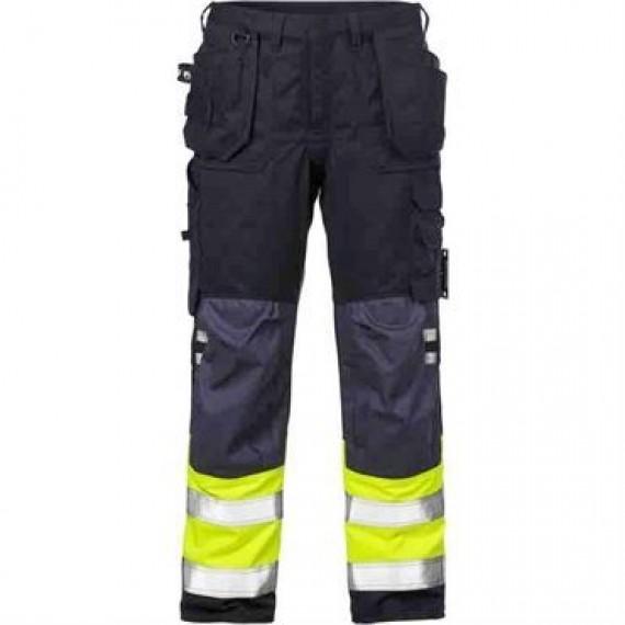 Kansas Flame Hi Vis håndværker bukser kl.1 2074