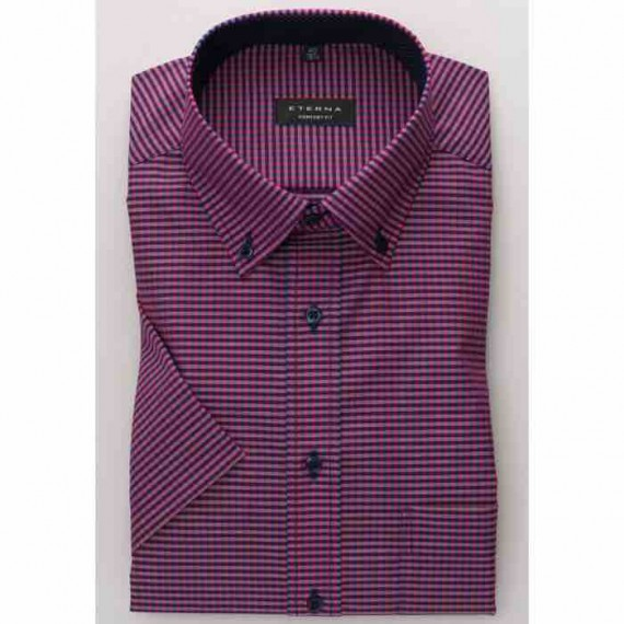 Eterna Comfort fit kort ærmet skjorte 8913 K144 58