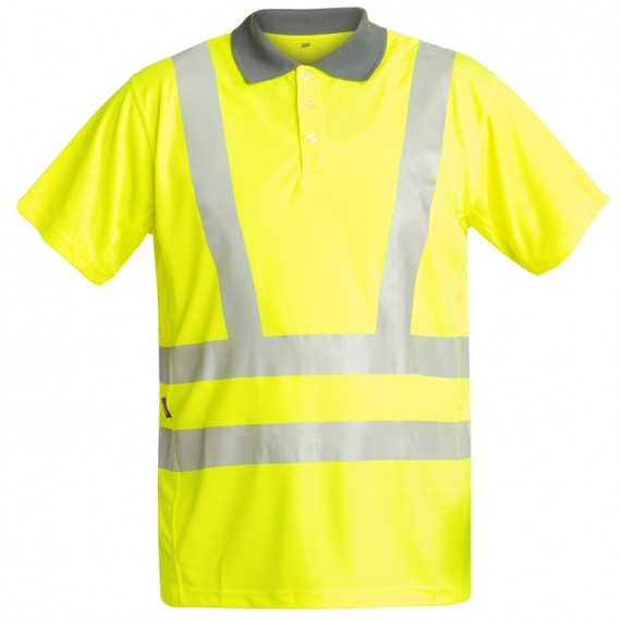 FE-Engel EN 20471 Polo T-Shirt - Gul