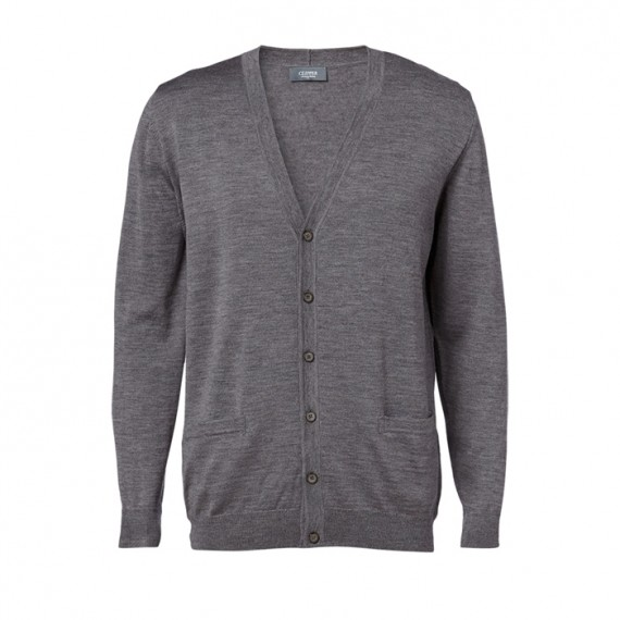 Clipper Cardigan Stengrå-30
