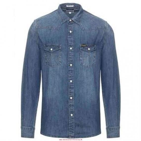 Wrangler denim skjorte W5973O78E
