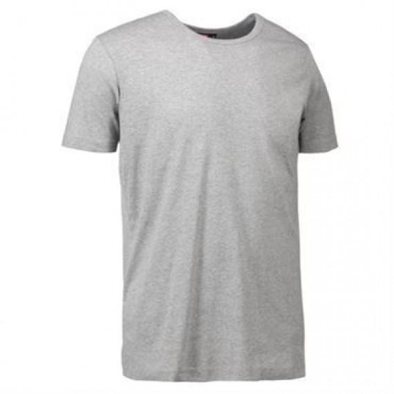 ID 1x1 rib t shirt 0538 grå melange