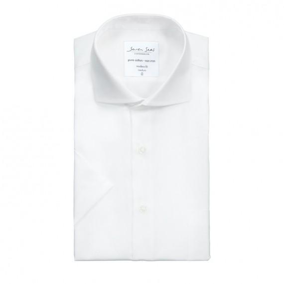 Seven Seas kortærmet skjorte modern fit ss410 white