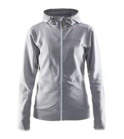 Craft Leisure full zip hood jacket 1901693 2950 Grey melange Women-20
