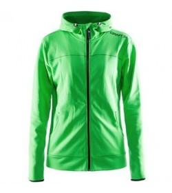 Craft Leisure full zip hood jacket 1901693 2606 Green Women-20