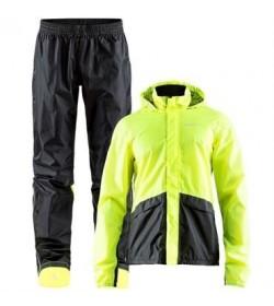 Craft transit rain set 1906095 999851 Black/Flumino yellow Men-20