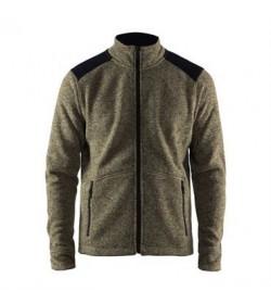Craft noble zip jacket heavy knit fleece 1904587 2649 Forrest Men-20