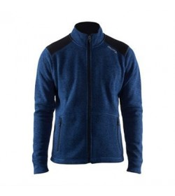 Craft noble zip jacket heavy knit fleece 1904587 2381 Deep blue Men-20
