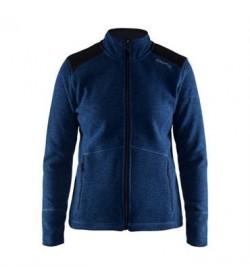 Craft noble zip jacket heavy knit fleece 1904588 2381 Deep blue women-20