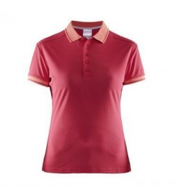 Craft noble polo pique shirt 1905074 2469 russian rose women-20