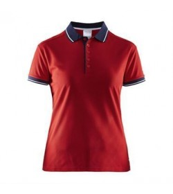 Craft noble polo pique shirt 1905074 2430 Bright red women-20