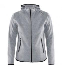 Craft Emotion full zip hood 1905781 950000 Grey melange women-20
