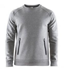 Craft emotion crew sweatshirt 1905784 950000 Grey melange men-20