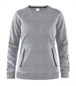 Craft emotion crew sweatshirt 1905785 950000 Grey melange women-20