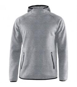 Craft emotion hood sweatshirt 1905786 950000 Grey melange Men-20