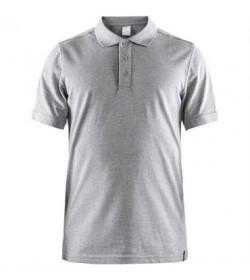 Craft casual polo pique shirt 1905800 950000 Grey melange men-20
