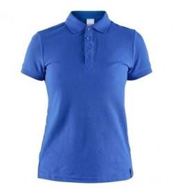 Craft casual polo pique shirt 1905801 336000 Sweden blue Women-20