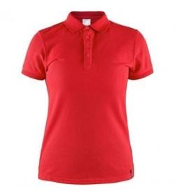 Craft casual polo pique shirt 1905801 430000 Red Women-20