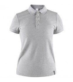 Craft casual polo pique shirt 1905801 950000 Grey melange Women-20