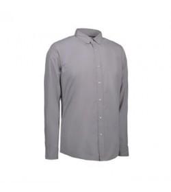 ID stretch cafeskjorte 0240 grå-20