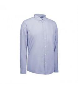 ID stretch cafeskjorte 0240 lys blå-20