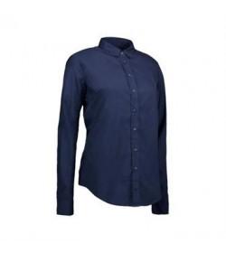 ID stretch cafeskjorte dame 0241 grå-20