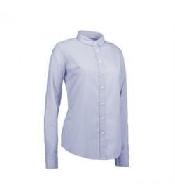 ID stretch cafeskjorte dame 0241 lys blå-20