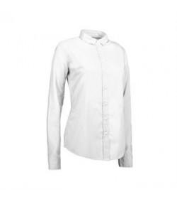 ID stretch cafeskjorte dame 0241 hvid-20
