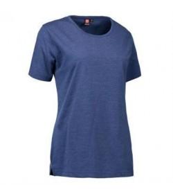 ID PRO wear t-shirt dame 0312 blå melange-20