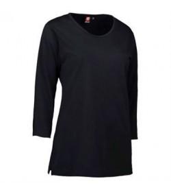 ID PRO wear dame t-shirt med trekvart ærmer 0313 sort-20