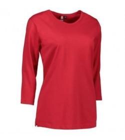 ID PRO wear dame t-shirt med trekvart ærmer 0313 rød-20