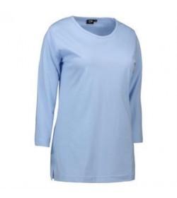 ID PRO wear dame t-shirt med trekvart ærmer 0313 lys blå-20