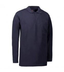 ID PRO wear polo med brystlomme og langeærmer 0326 sort-20