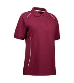 ID PRO wear polo dame 0329 bordeaux-20