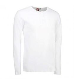 ID 1x1 rib granddad t-shirt 0504 grå melange-20