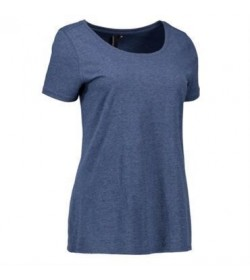 ID Core t-shirt dame 0541 blå melange-20
