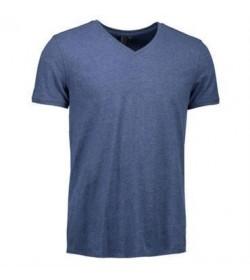 ID Core t-shirt med V-hals 0542 blå melange-20