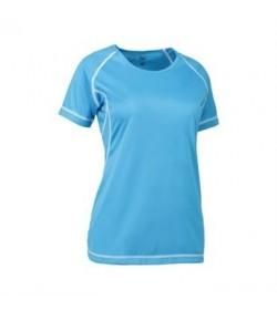 ID Game active t-shirt flatlock dame 0581 cyan-20