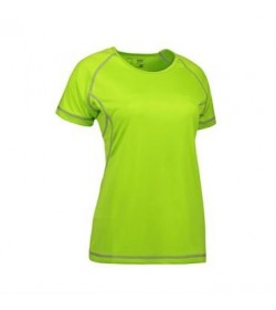 ID Game active t-shirt flatlock dame 0581 lime-20