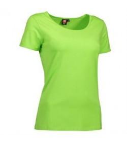 ID Stretch t-shirt dame 0590 lime-20