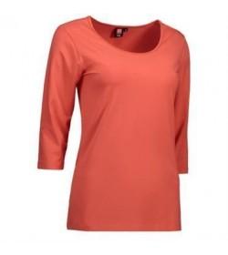 ID Stretch t-shirt med trekvart ærmer dame 0591 koral-20