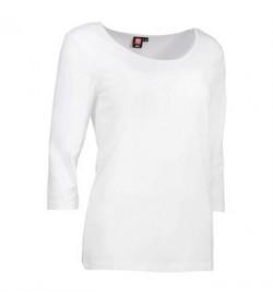 ID Stretch t-shirt med trekvart ærmer dame 0591 hvid-20